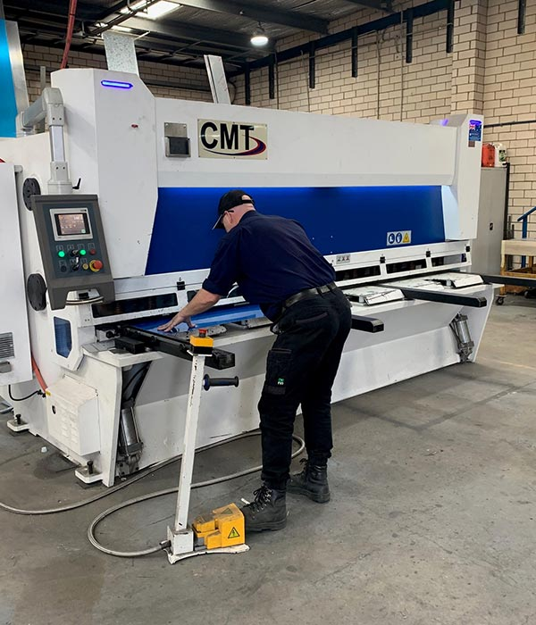 Custom metal fabrication workshop