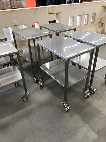 Stainless Steel Bench Trolleys